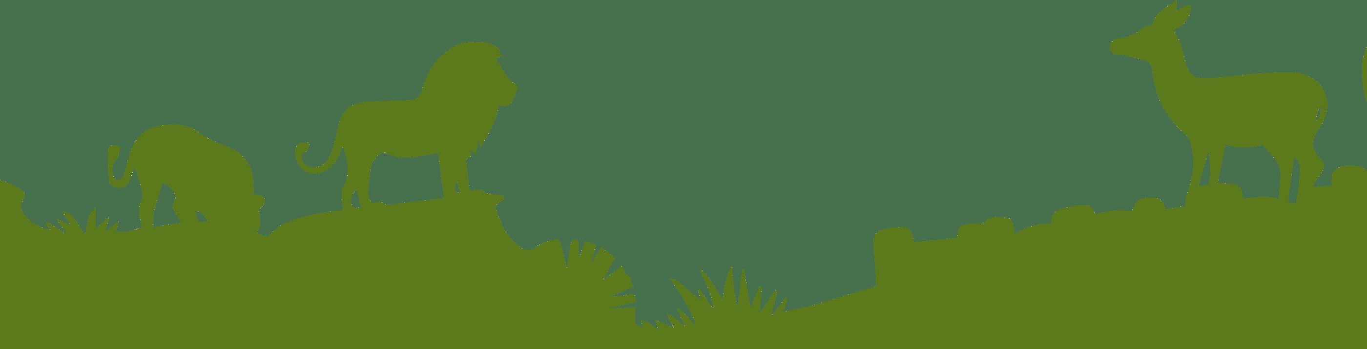 green lion silhouette