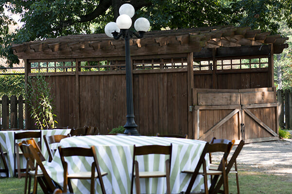 Picnic Grove set with tables and chairs