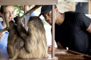 demetrius jackson meeting lenny the two-toed sloth
